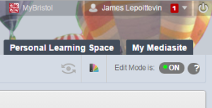 Edit Mode in Blackboard